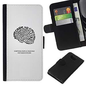 All Phone Most Case / Oferta Especial Cáscara Funda de cuero Monedero Cubierta de proteccion Caso / Wallet Case for Samsung ALPHA G850 // Everything Starts In Your Head