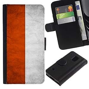 Billetera de Cuero Caso Titular de la tarjeta Carcasa Funda para Samsung Galaxy S5 V SM-G900 / National Flag Nation Country Poland / STRONG