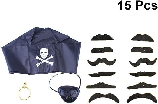 STOBOK 15 piezas de disfraz de pirata para Halloween, sombrero ...