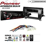 Volunteer Audio Pioneer DEH-S1000UB Double Din Radio Install Kit with CD Player, USB/AUX Fits 2007-2013 Non Amplified Toyota Tundra, 2008-2013 Sequoia (Metallic Gray)