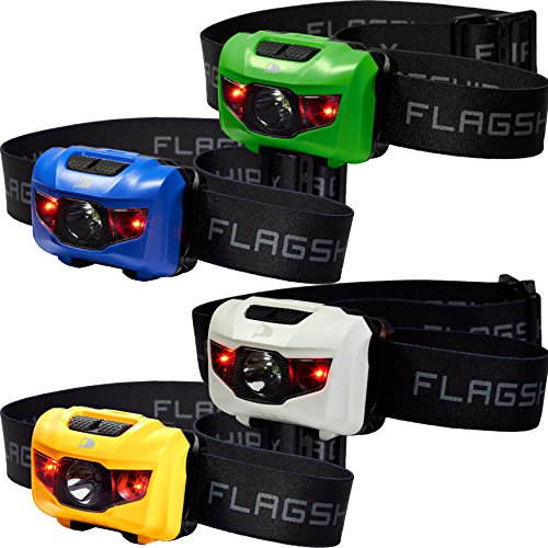Insane Sale 4-Pack Flagship-X Waterproof CREE LED Camping Headlamp Flashlight For Running Mixed Colors