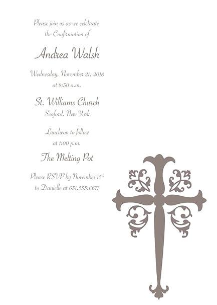 amazon com 25 custom confirmation invitations with envelopes