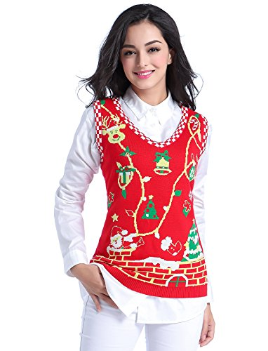 Women Christmas Sweater Vest