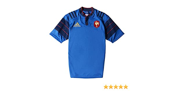 b7508fc1 Amazon.com : adidas France FFR Home Rugby Jersey 15/16 : Sports & Outdoors