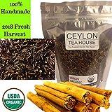 Virgin Organic Ceylon Cinnamon Tip Tea – In a Re-sealable Pouch [loose leaf Tea, Herbal Tea] (6) For Sale