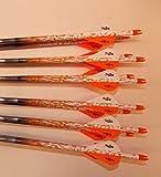 Gold Tip XT Hunter 5575/400 Carbon Arrows w/Blazer Vanes Rain Wraps 1Dz.