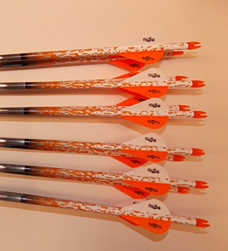 Gold Tip XT Hunter 5575/400 Carbon Arrows w/Blazer Vanes Rain Wraps 1Dz.