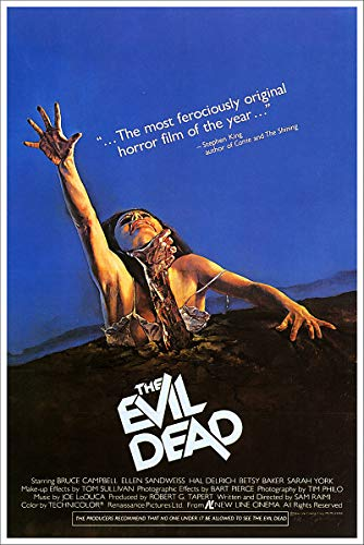 - American Gift Services - The Evil Dead Bruce Cambell Vintage Horror Movie Poster - 24x36
