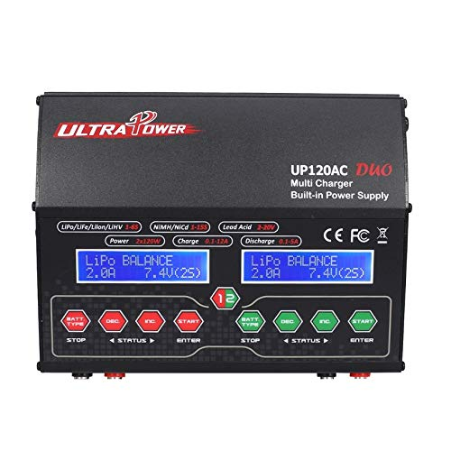 Wikiwand Ultra Power UP120AC Duo Balancing Charger 110V/220V for Lilo/LiPo/Life/LiHV by Wikiwand (Image #2)