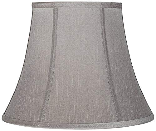 Pewter Gray Bell Lamp Shade 8x14x11 (Spider) - Brentwood