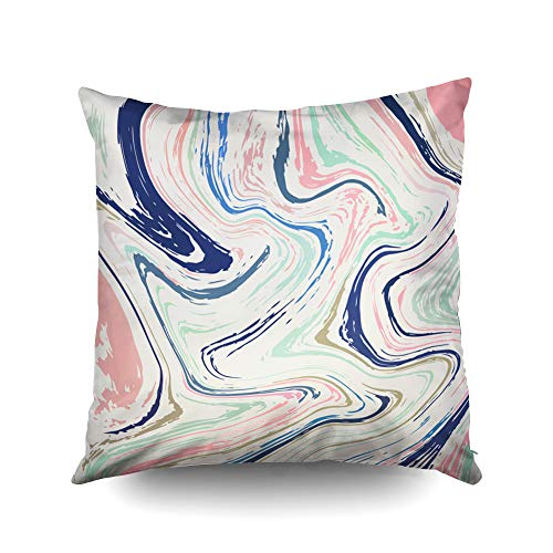 ROOLAYS Decorative Throw Square Pillow Case Cover 18X18Inch,Cotton Cushion Covers Halloween Marbling Texture Marbling Texture Both Sides Printing Invisible Zipper Home Sofa Decor Pillowcase