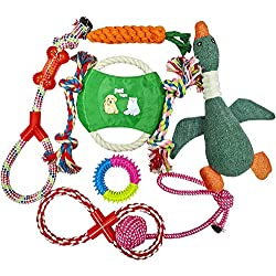 Dog Toys | Pet Toys for Dogs Indestructible | Dog Chew Toys | Best Teething Toys for Puppies | Dog Chews | Dog Toys for Boredom | Dog Rope Toy | Puppy Toys | Dog Toys Multi Pack