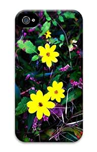 Bright Flowers PC Case for iphone 4S/4
