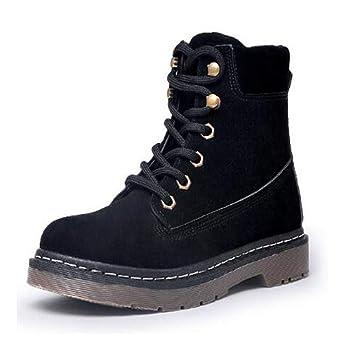 FMWLST Botas Zapatos Oxford De Invierno para Mujer con Botines Planos De Madera para Mujer: Amazon.es: Deportes y aire libre