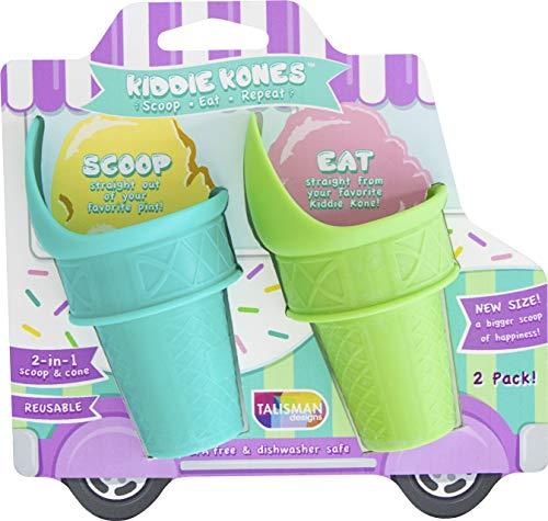 (Talisman Designs 3655 Kiddie Kones Reusable Large Scoop Cones Set of 2)