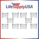LifeSupplyUSA 10 Pack Idylis HEPA Air Purifier Filter Fits Idylis Air Purifiers IAP-10-200, IAP-10-280; Model # IAF-H-100C For Sale