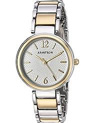 Armitron Womens 75/5467SVTT Two-Tone Bracelet Watch