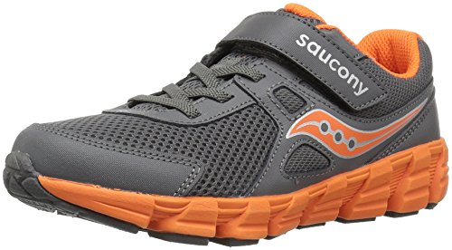 Saucony Boys' Vortex a/C Sneaker, Grey, 11.5 Wide US Little Kid
