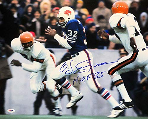 O. J. OJ Simpson Signed Buffalo Bills Football 16x20 Photo