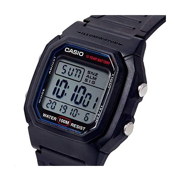 Casio Collection W-800H-1AVES, Reloj Digital Unisex, Negro 8