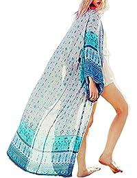 shermie - Kimono de Gasa para Mujer, diseño de Kaftan