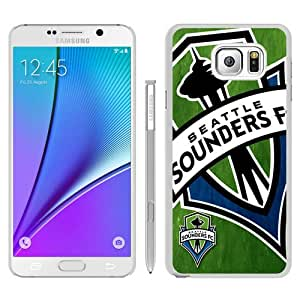 Hot Sale Seattle Sounders Fc 06 White Samsung Galaxy Note 5 Screen Phone Case Beautiful and Genuine Design