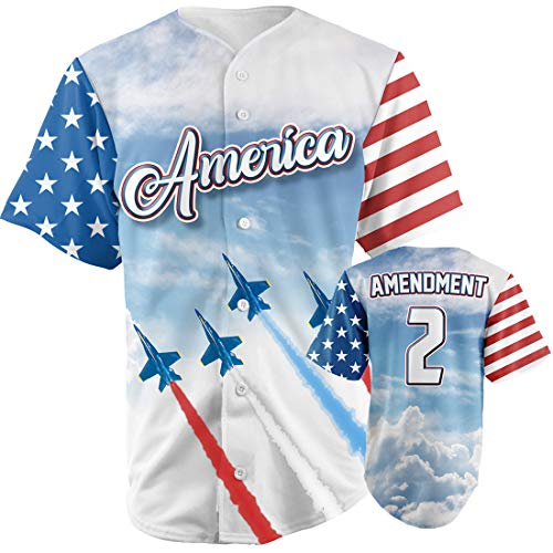 Greater Half Team America 2nd Amendment Jersey (Small-XXXXL) ()