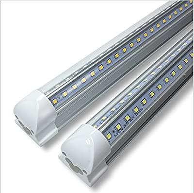 CIDASXL T8 LED tube for 4 feet, 48 inches, 24W, V-type double row lamp - 192pc LED, 6000K color temperature, 2500 lumens, 50,000 hours! LED tube, transparent cover?UL and CE certification