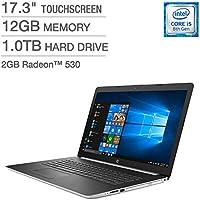 HP 17.3 Touchscreen WLED-backlit HD+ SVA (1600 x 900) Display LAPTOP - Intel Core i5-8250U Processor 1.6 GHz - 2GB AMD Radeon 530 Graphics - 12GB DDR4 SDRAM - 1TB SATA Hard Drive - Windows 10 Home