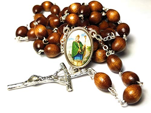 Relic Rosary 3rd Class of Saint Patrick Christian Missionary & Bishop Apostle of Ireland New York San Patricio patrón de Irlanda Nueva ()