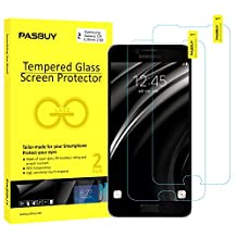 PASBUY 2 Pack Super thin 0.26mm [ Japan Glass ] Premium Tempered Glass film Screen Protector-Retail packing for Samsung Galaxy J7 Prime(2017)