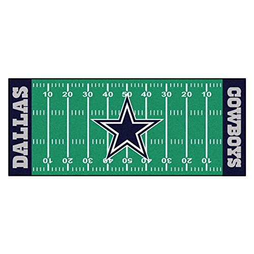 FANMATS NFL Dallas Cowboys Nylon Face Football Field Runner (Cowboys Mat Runner)