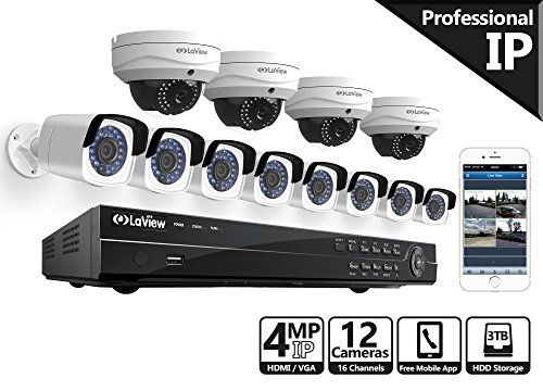 Laview 16 channel 4MP home security camera system video NVR