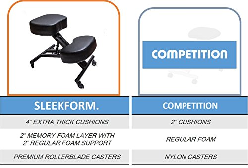 Sleekform Ergonomic Kneeling Chair M2 (Memory/Regular Foam), Adjustable Stool for Home, Office, and Meditation by Sleekform (Image #2)