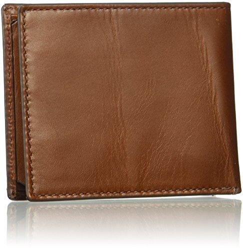 ID RFID Fossil Hugh Fossil Men's Cognac Bifold Wallet Men's Flip wtqqTPXr
