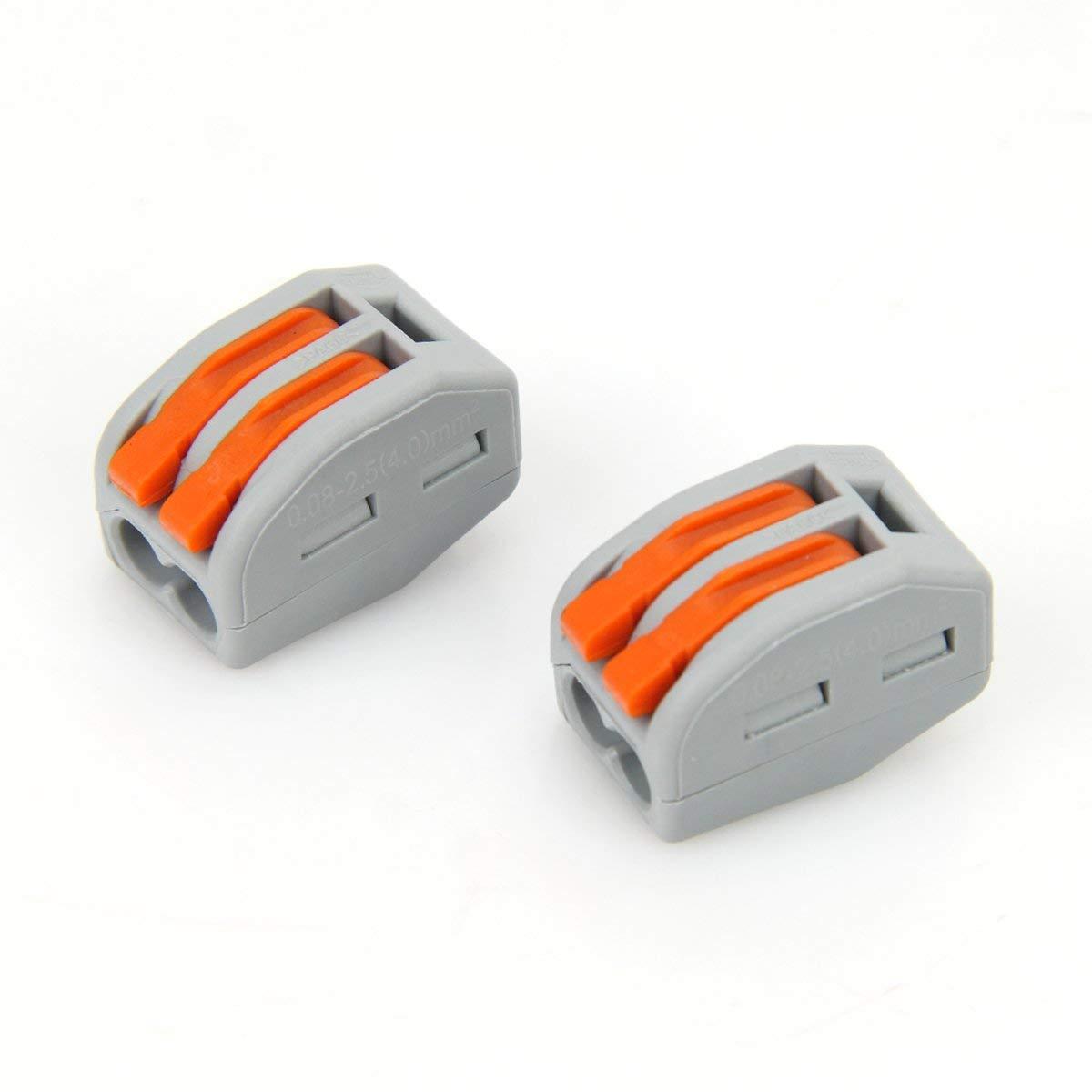 10 Lot de 20 connecteurs de fils compacts 222-413 Uooker 222-412 10