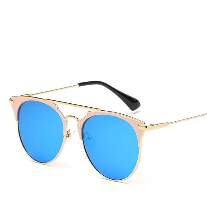 Vintage de lujo gafas de sol mujer marca redonda Designer 2018 Cat Eye gafas  de sol aab67e4d9100
