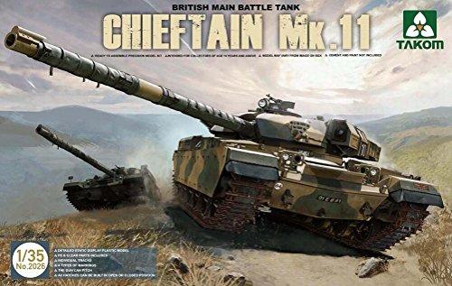 British Battle Tank Main (Takom 1:35 British Main Battle Tank Chieftain Mk.11 - Plastic Model Kit #2026)