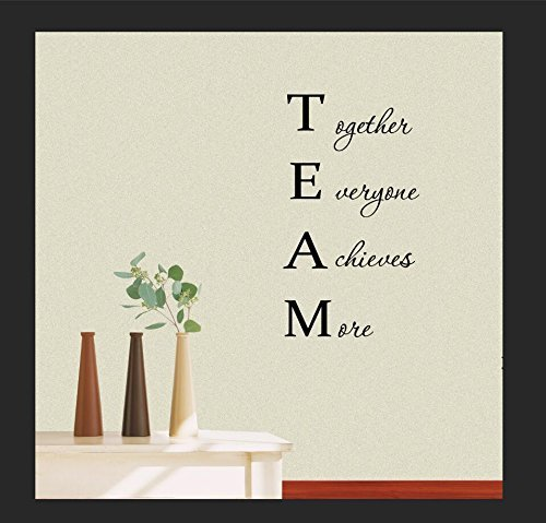 Wall Vinyl Decal TEAM Together Everyone Achieves More Classroom sport football cute inspirational family love vinyl quote saying wall art lettering sign room (Cute Classrooms)