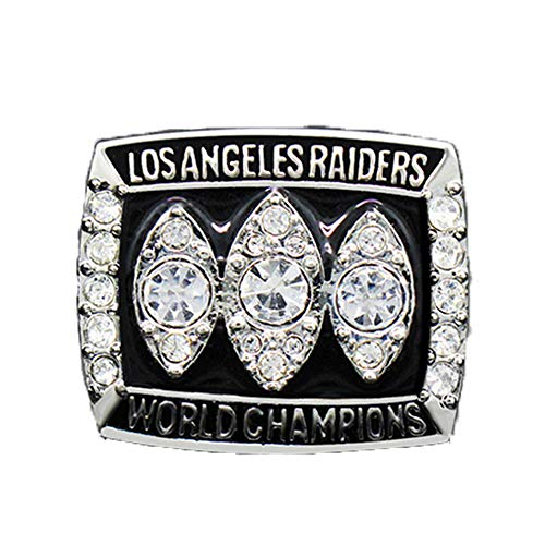 - Gloral HIF Oakland Raiders Championship Ring Super Bowl XVII 1983 Replica Ring sz 11 with Display Wooden Box