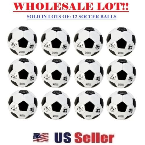 iGifts Inc. Official Soccer Balls Size 5 Wholesale Bulk Outdoor/Indoor Ball (LOT of 12X)