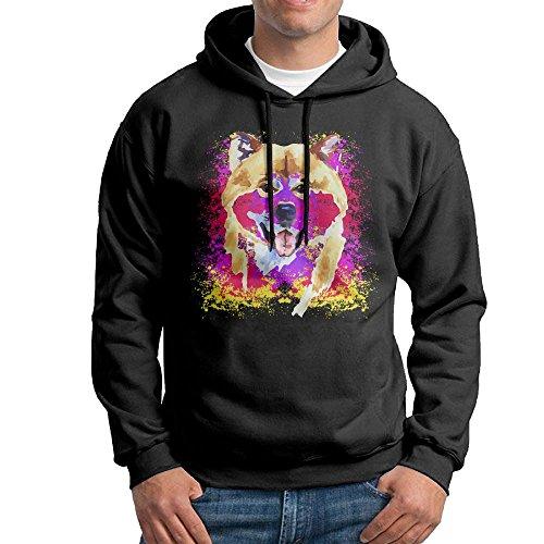 Corelosa Watercolor Shiba Inu Dog Men's Hooded Sweatshirt