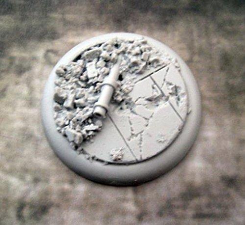Secret Weapon Minis Round Lip 50mm Urban Rubble Base (Urban Miniature)