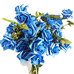 KAYAN Artificial Flowers Fake Flowers Silk Artificial Roses 5 Heads Bridal Wedding Bouquet for Home Garden Party Wedding Decoration 57