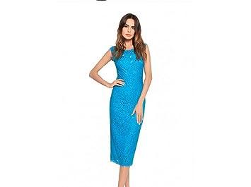 Femme Robe Lucky Impression De Dentelle Femmes Robes Floral U Bleu PyvnN0Om8w