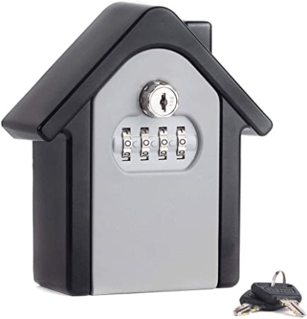 Caja de cerradura de almacenamiento de llaves con código, combinación de llave a prueba de agua Caja de seguridad Caja de cerradura de combinación Armario de llave, combinación para configurar,A: Amazon.es: Hogar