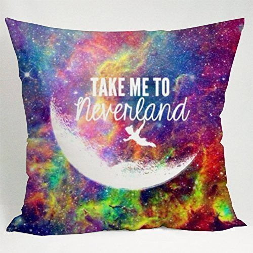 Fashion Pillowcases Peter Pan Neverland Take Me to Neverland Pillow Case (20*30 inches one side) (Peter Pan Pillow compare prices)