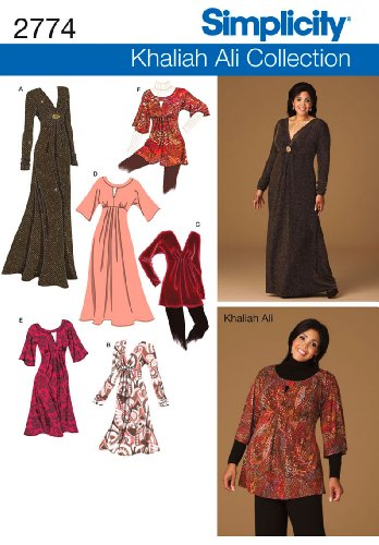 Simplicity Khaliah Ali Collection Pattern 2774 Women's Knit Dresses and Tunics Sizes 20W-28W ()