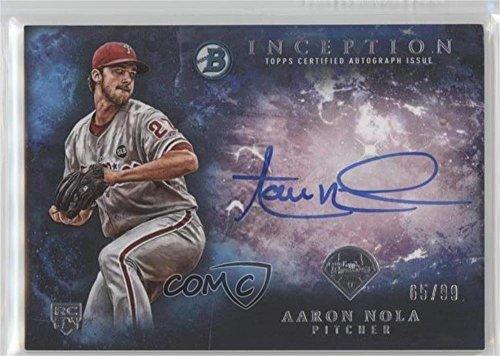 Aaron Nola #/99 (Baseball Card) 2016 Bowman Inception - Rookie Autographs - Blue #RA-AN