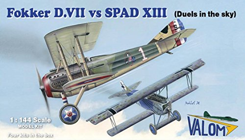 Fokker D.VII vs SPAD XIII: Ace Rickenbacker (Four 1/144 for sale  Delivered anywhere in USA